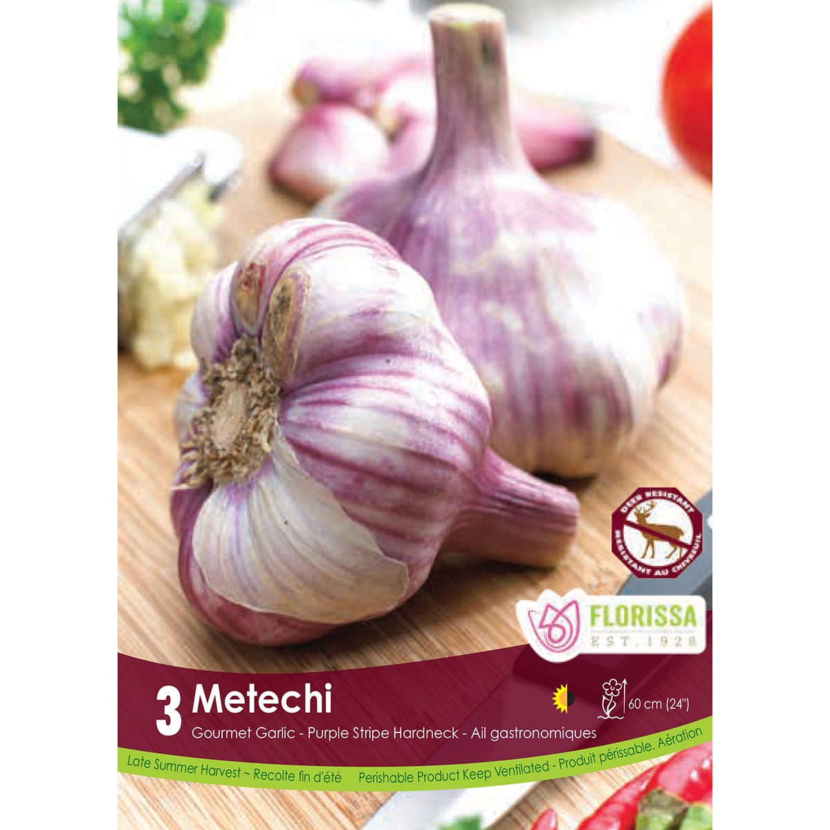 Garlic 'Metechi' Bulbs 3Pk