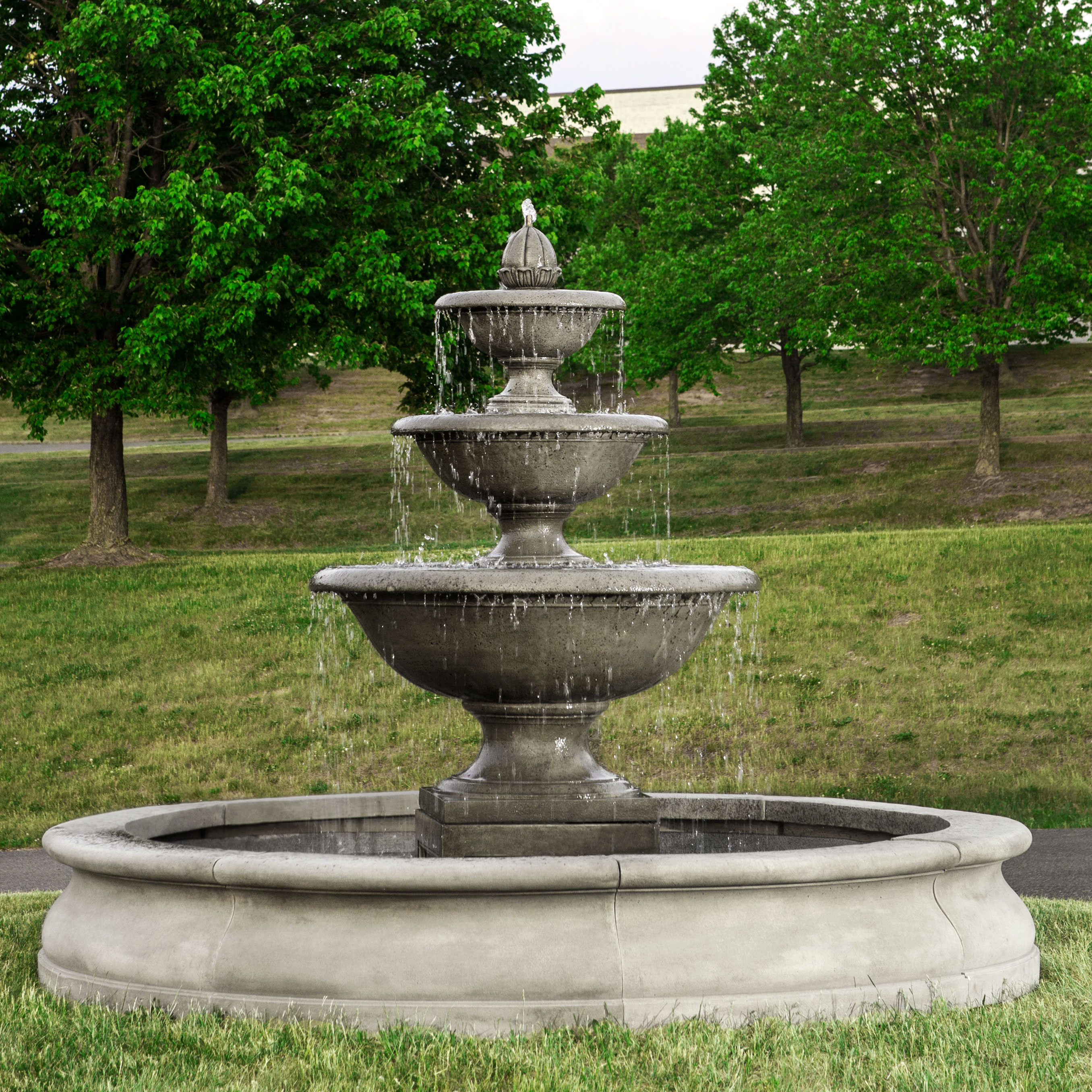 Campania - Monteros Fountain in Basin