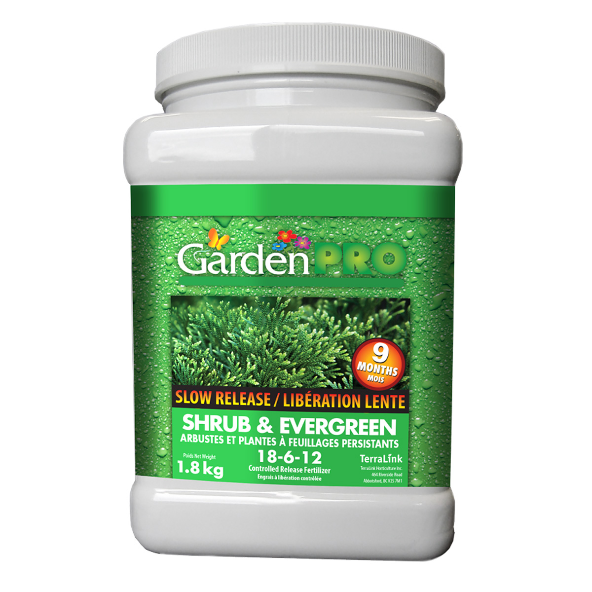 Garden Pro Slow Release Shrub and Evergreen Fertilizer 18-6-12 1.8kg