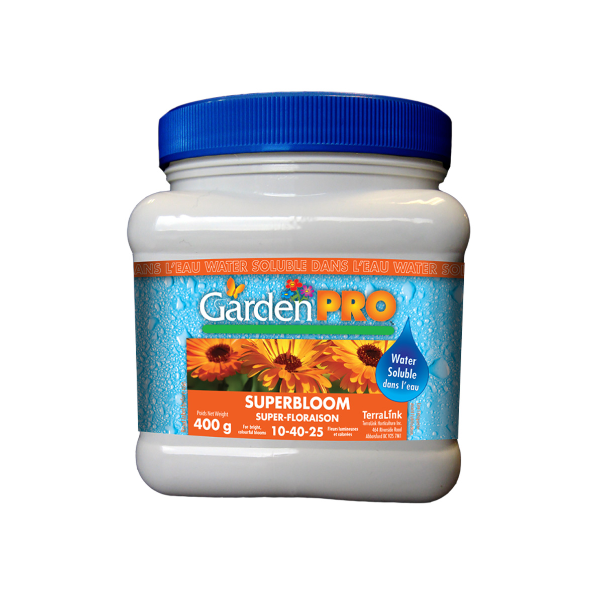Garden Pro Water Soluble Superbloom Fertilizer 10-40-25 400g