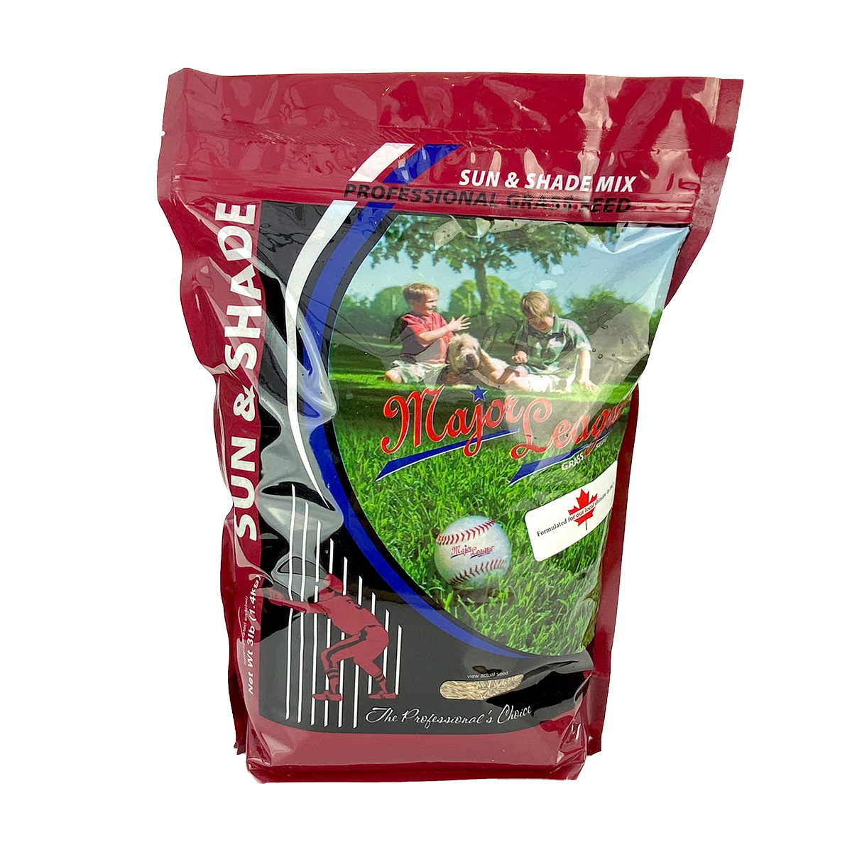 Major League Grass Seed Sun and Shade Mix 1.4kg