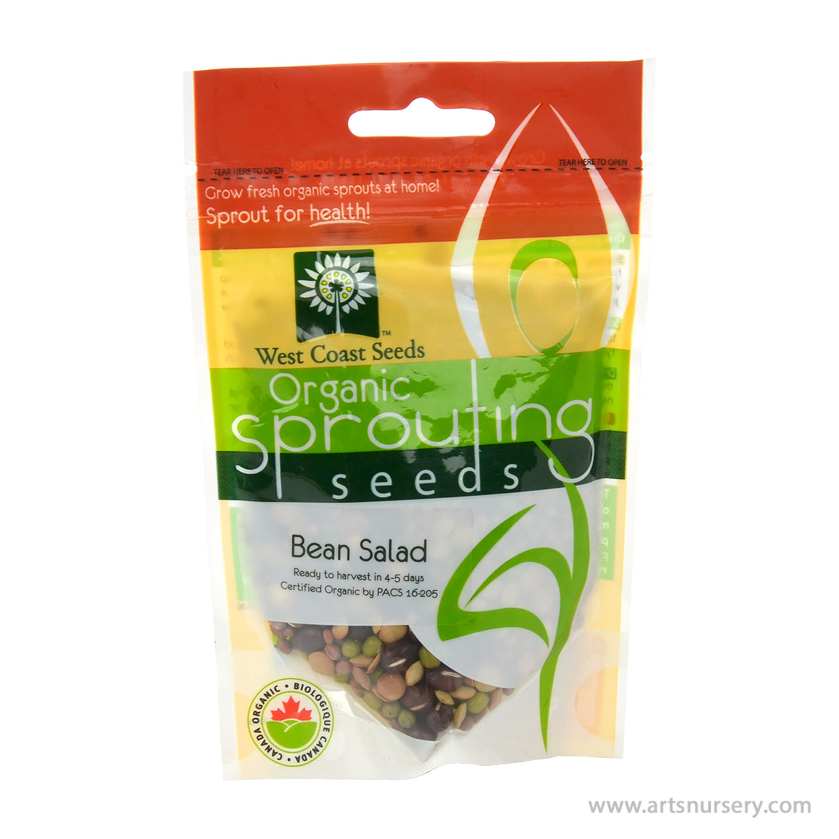 Bean Salad Organic Sprouting Seeds