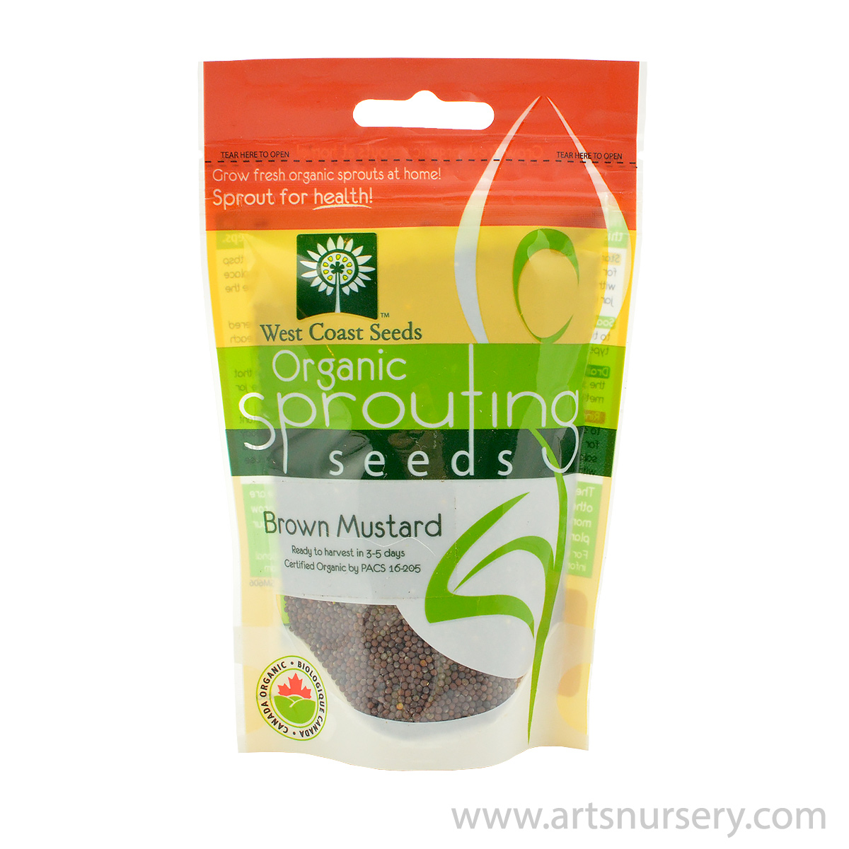 Brown Mustard Organic Sprouting Seeds