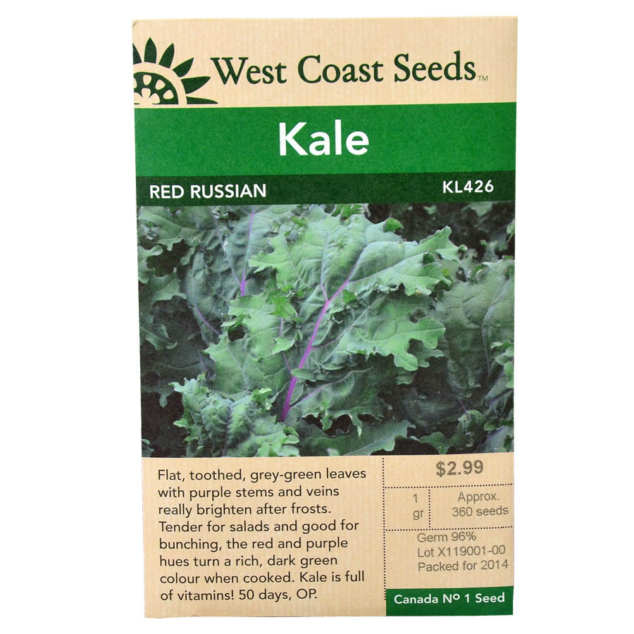Kale Red Russian Seeds | West Coast Seeds