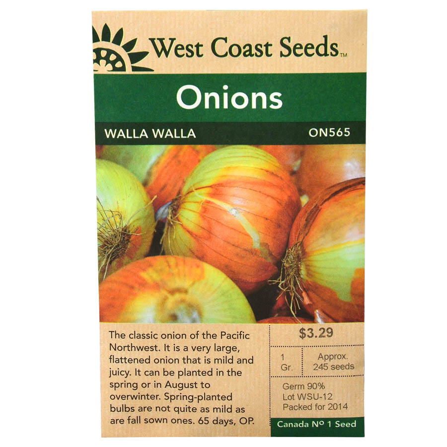 Onions Walla Walla Seeds | West Coast Seeds