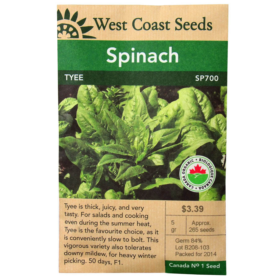 Spinach Tyee Seeds | West Coast Seeds