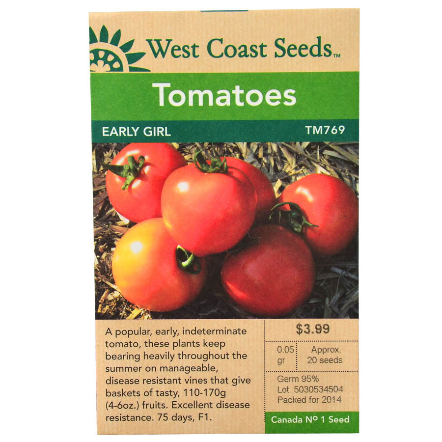 Tomato Early Girl Seeds | West Coast Seeds