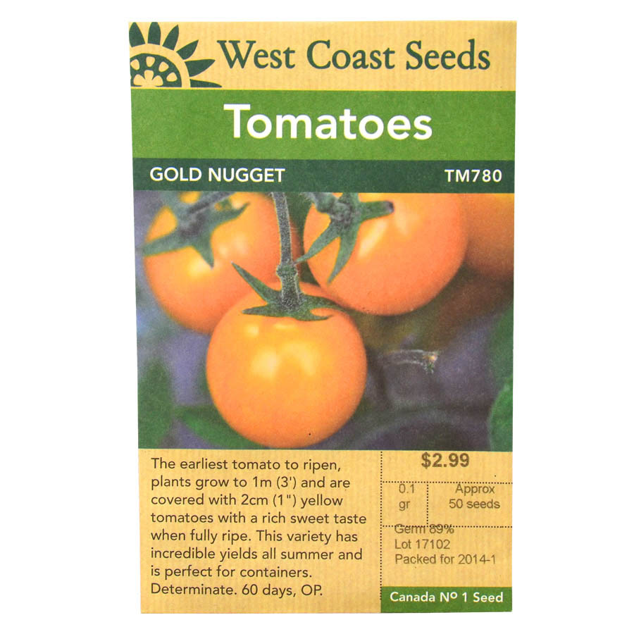 Tomato Golden Nugget Seeds | West Coast Seeds