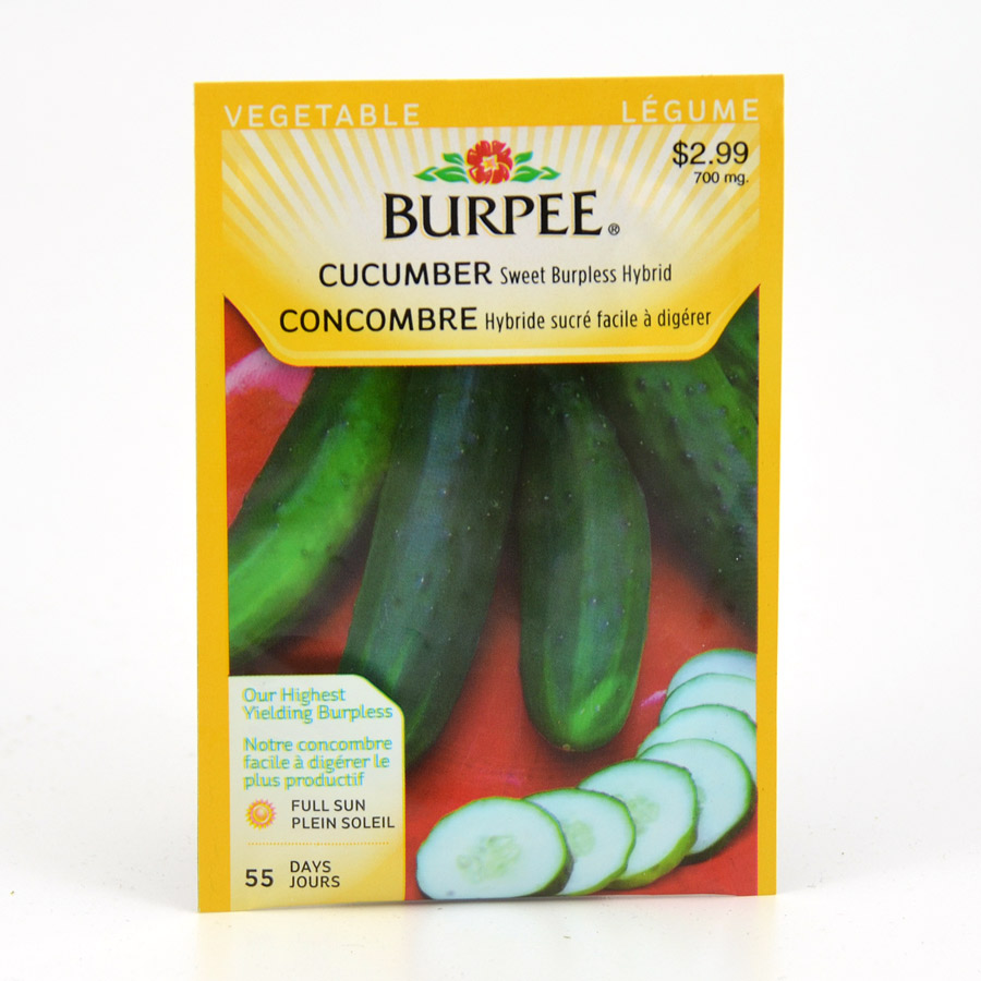 Burpee Sweet Burpless Hybrid Cucumber Seeds