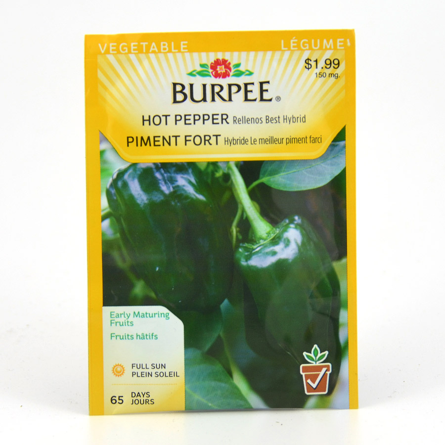 Burpee Hot Pepper Rellenos Best Hybrid Seeds