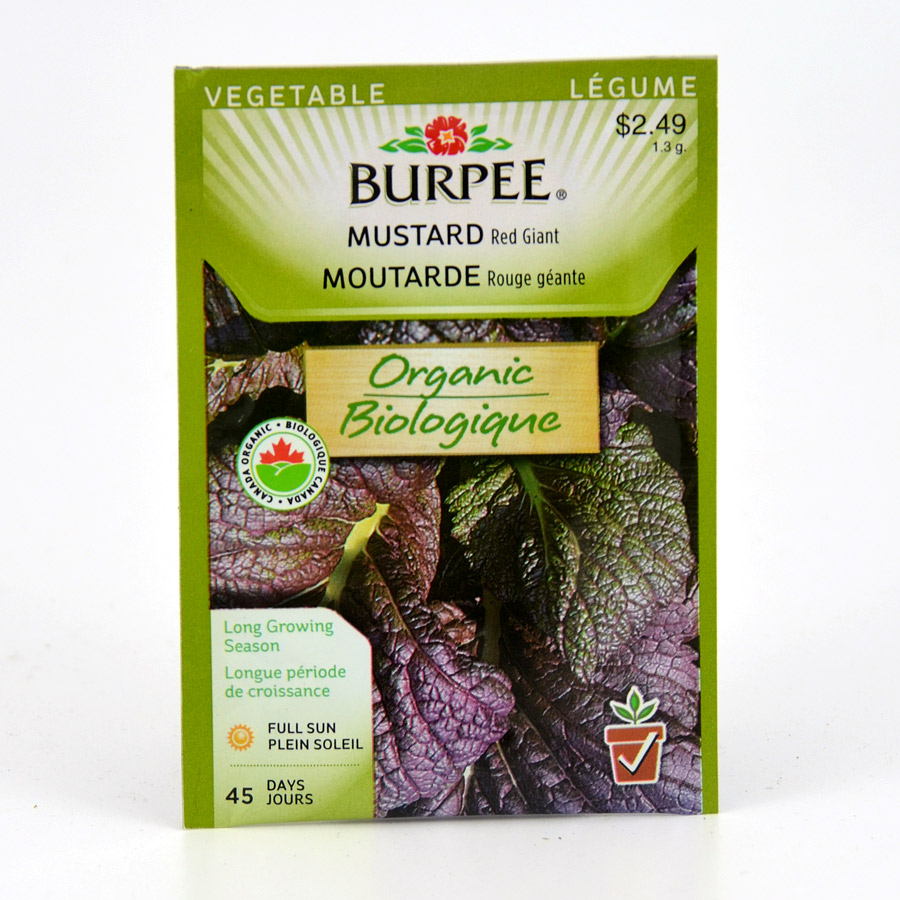 Burpee Mustard Red Giant Seeds