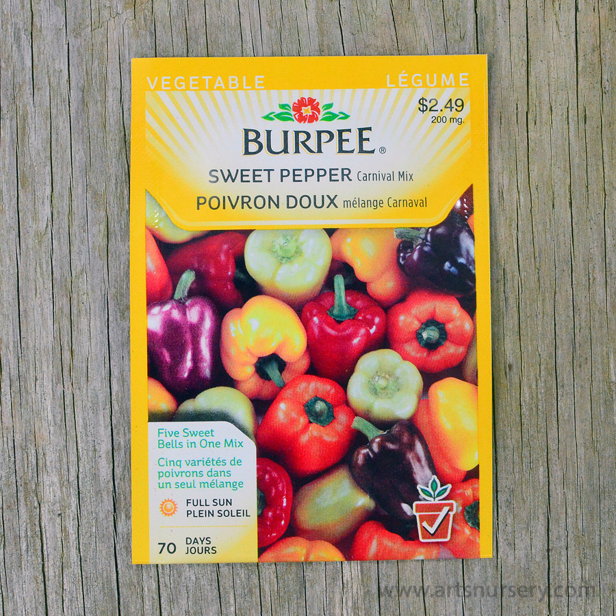 Carnival Mix Sweet Pepper Seeds Burpee
