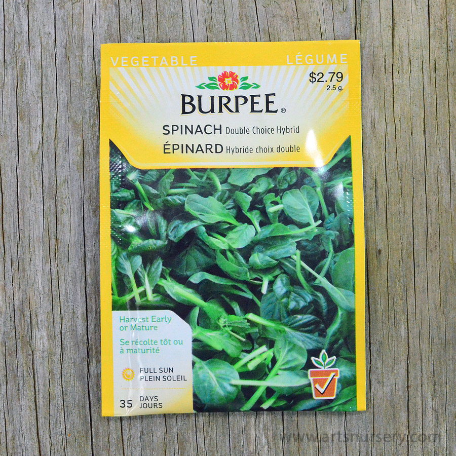 Double Choice Hybrid Spinach Seeds Burpee