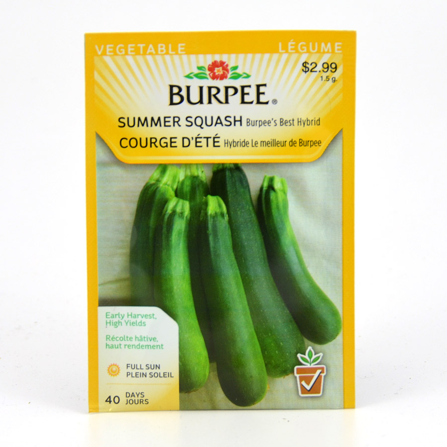 Burpee Best Hybrid Summer Squash Seeds
