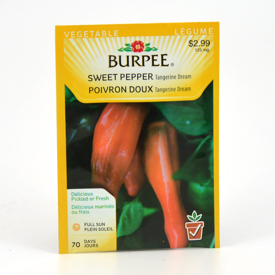 Burpee Tangerine Dream Sweet Pepper Seeds