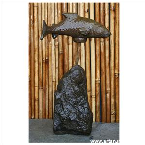 Salmon on Rock - Medium