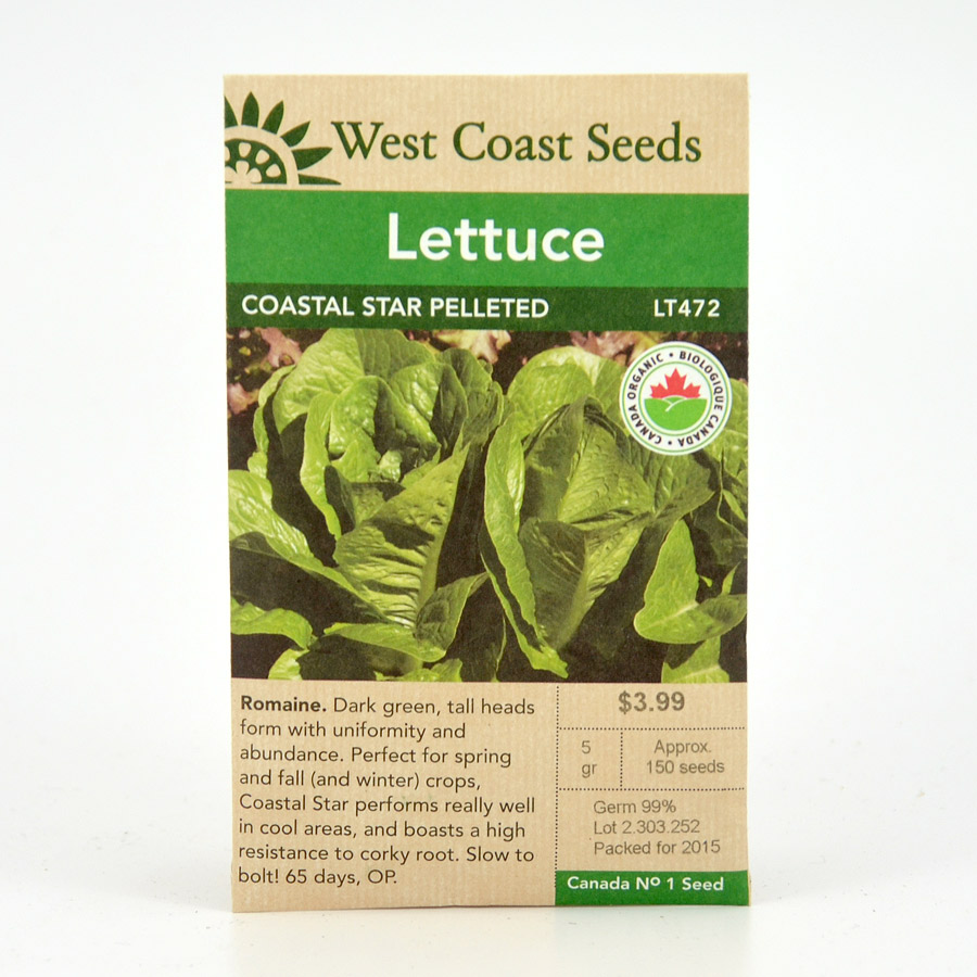 Coastal Star Pelleted Lettuce Seeds