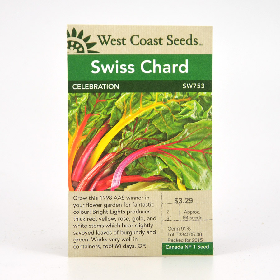 Celebration Swiss Chard Seeds